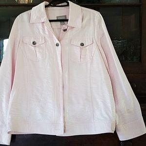 Light shimmery pink blazer